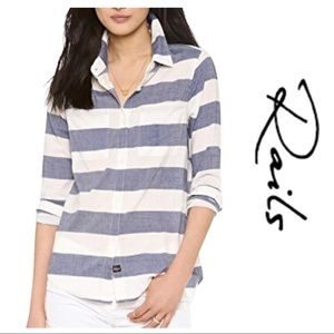 Rails • Bold Striped Button Down shirt